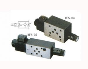 叠加式电磁单向节流阀